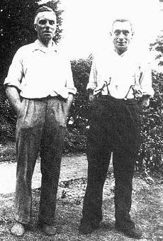 Len Hawting (left) Head Greenkeeper 1925 - 1970
